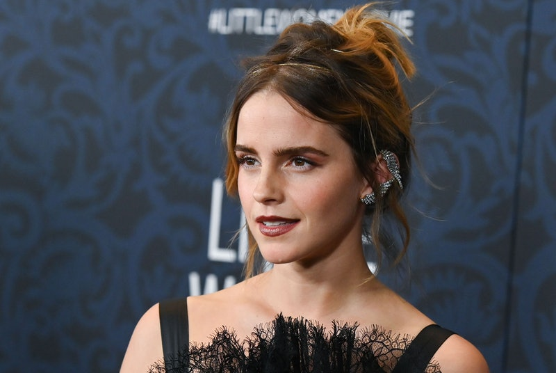 """English actress Emma Watson arrives for """"Little Women"""" world premiere at the Museum of Modern Art in..."""