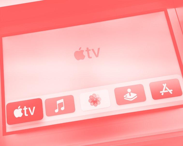 Apple TV digital media player is screening at a store inside Galeria Krakowska shopping mall in Krakow, Poland on May 4, 2021. (Photo by Beata Zawrzel/NurPhoto via Getty Images)