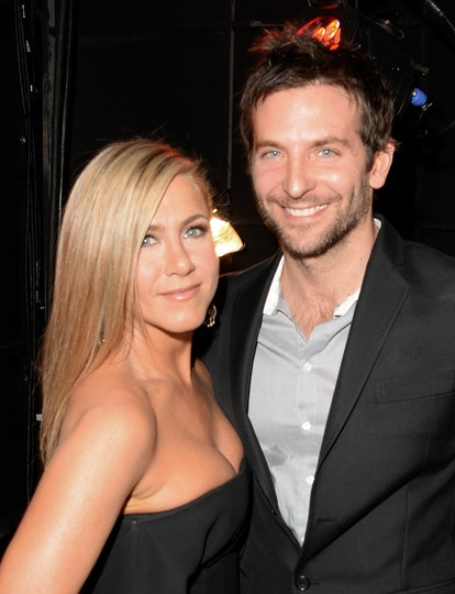 CULVER CITY, CA - JUNE 08:  Actors Jennifer Aniston and Bradley Cooper attend Spike TV's Guys Choice 2013 at Sony Pictures Studios on June 8, 2013 in Culver City, California.  (Photo by Jason Merritt/Getty Images for Spike TV)