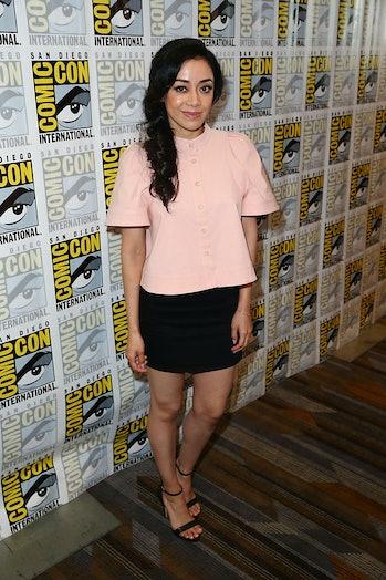 "SAN DIEGO, CA - JULY 22:  Aimee Garcia arrives at the ""Lucifer"" press line at Comic-Con Internationa..."