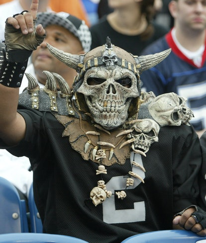 21 September 2008: Oakland Raiders fans cheer on the Raiders at the Ralph Wilson Stadium in Buffalo, NY. The Bills defeated the Raiders 24 - 23.
