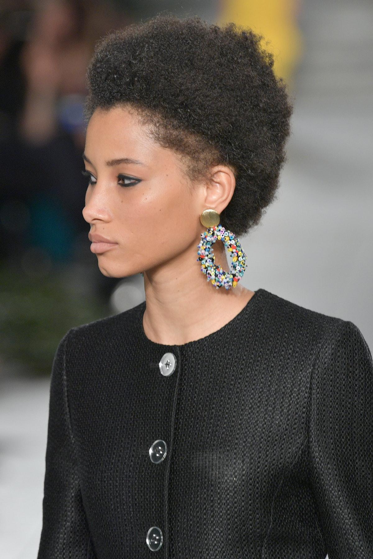 NEW YORK, NY - SEPTEMBER 11:  A model walks the runway for TRESemme Carolina Herrera fashion show du...