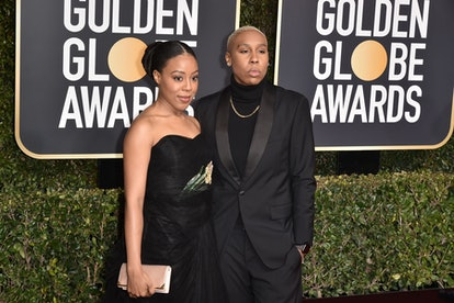 BEVERLY HILLS, CALIFORNIA - JANUARY 06: Alana Mayo and Lena Waithe attend the 76th Annual Golden Glo...