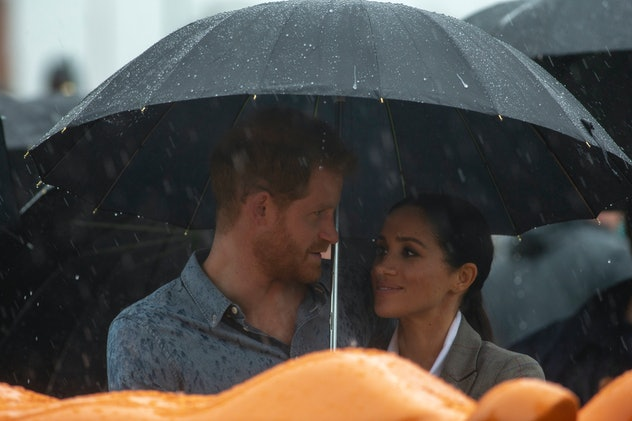 Prince Harry and Meghan Markle, weathering storms together.