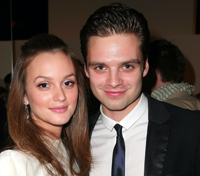 NEW YORK - APRIL 02:  Actors Leighton Meester and Sebastian Stan attend the Parsons Fashion Benefit ...