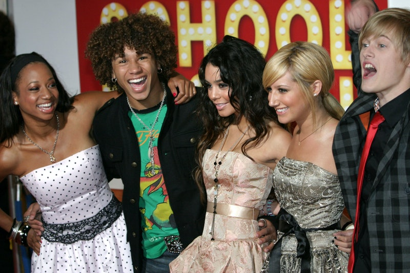 Corbin Bleu, Monique Coleman, Vanessa Anne Hudgens, Ashley Tisdale and Lucas Grabeel at the Odeon Leicester Square in London, United Kingdom. (Photo by Ferdaus Shamim/WireImage)