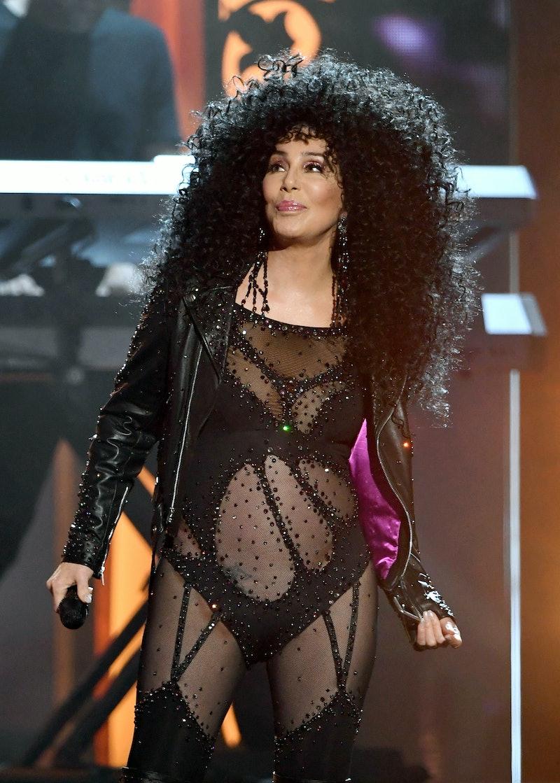 LAS VEGAS, NV - MAY 21:  Actress/singer Cher performs during the 2017 Billboard Music Awards at T-Mo...