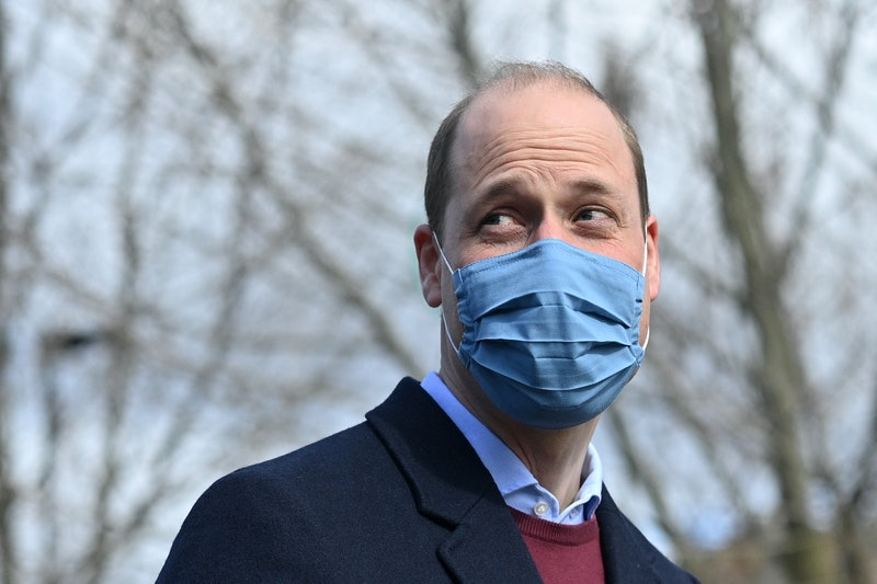Britain's Prince William, Duke of Cambridge reacts to a question from the media as he leaves after a...