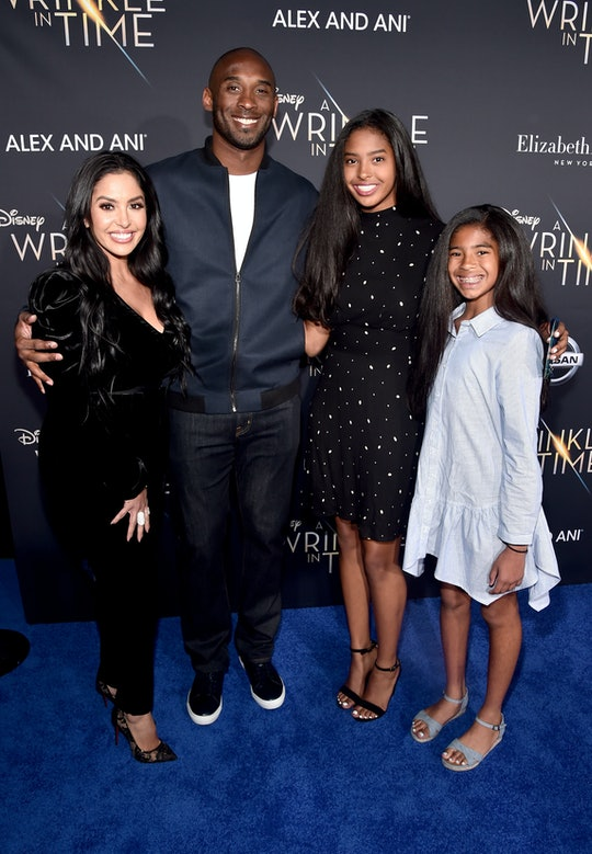 LOS ANGELES, CA - FEBRUARY 26:  (L-R) Vanessa Laine Bryant, former NBA player Kobe Bryant, Natalia Diamante Bryant, and Gianna Maria-Onore Bryant arrive at the world premiere of Disney's 'A Wrinkle in Time' at the El Capitan Theatre in Hollywood CA, Feburary 26, 2018.  (Photo by Alberto E. Rodriguez/Getty Images for Disney)
