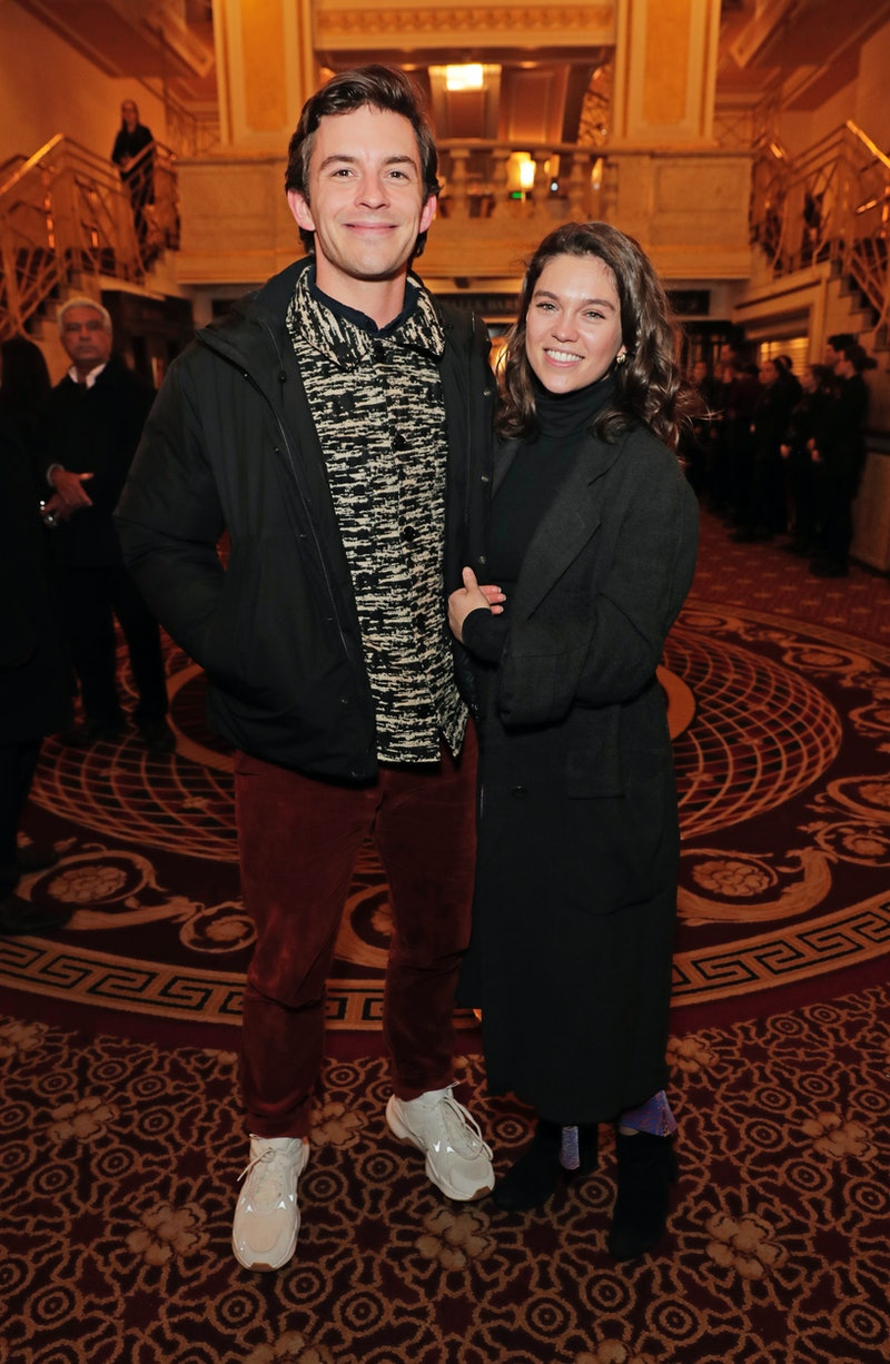 """LONDON, ENGLAND - FEBRUARY 25:   Jonathan Bailey and Sabrina Bartlett attend the gala night performance of """"The Prince of Egypt"""" at the Dominion Theatre on February 25, 2020 in London, England.  (Photo by David M. Benett/Dave Benett/Getty Images for The Prince of Egypt)"""