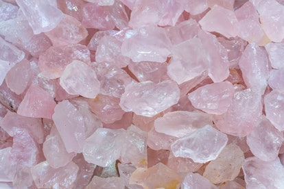 Pink crystal meanings are about love.