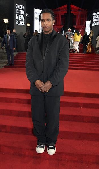 LONDON, ENGLAND - DECEMBER 02:   A$AP Rocky arrives at The Fashion Awards 2019 held at Royal Albert ...