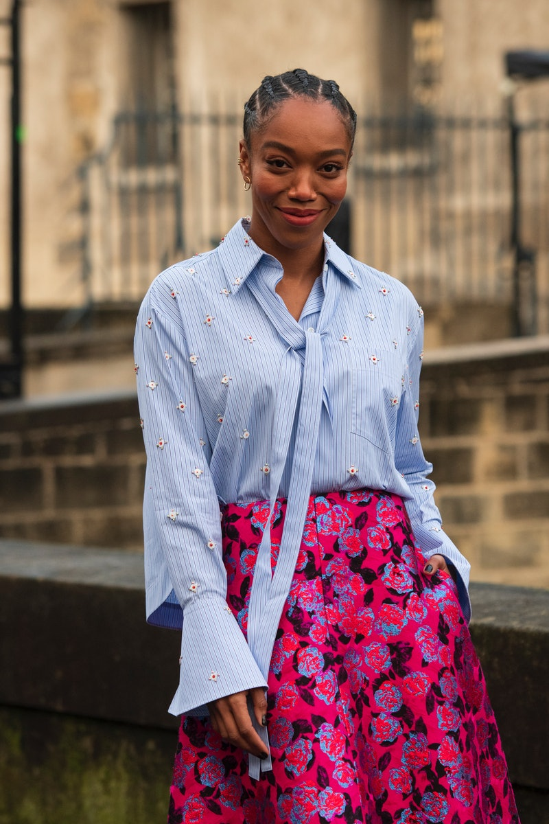 PARIS, FRANCE - MARCH 01: Actress Naomi Ackie wears Valentino on March 01, 2020 in Paris, France. (Photo by Kirstin Sinclair/Getty Images)