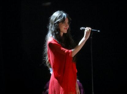 LONDON, ENGLAND - MAY 11: Olivia Rodrigo performs during The BRIT Awards 2021 at The O2 Arena on May...