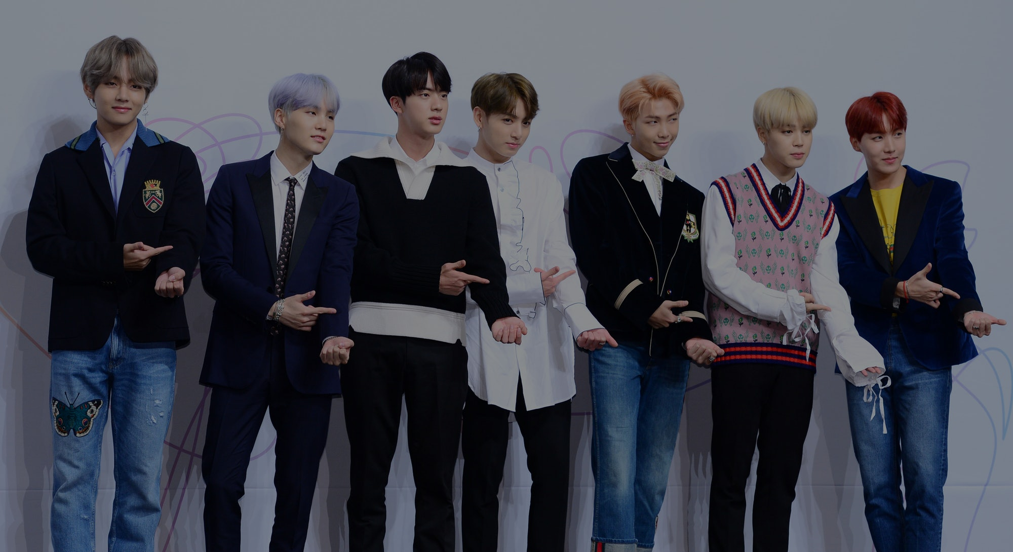 SEOUL, SOUTH KOREA - SEPTEMBER 18: BTS attend the press conference for BTS's New Album 'LOVE YOURSELF: Her' release at Lotte Hotel Seoul on September 18, 2017 in Seoul, South Korea. (Photo by THE FACT/Imazins via Getty Images)