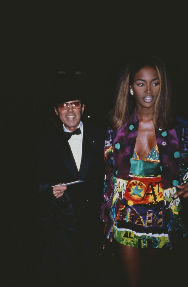 English fashion model Naomi Campbell and American fashion photographer Francesco Scavullo (1921 - 20...