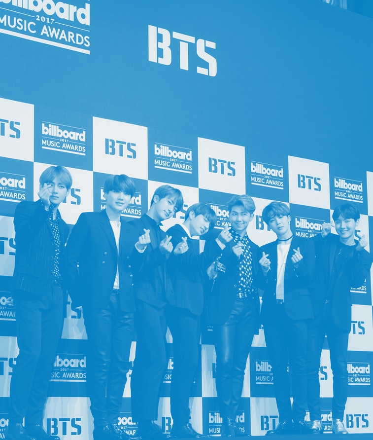 SEOUL, SOUTH KOREA - MAY 29: BTS attend the press conference for the 2017 Billboard Music Award at Lotte Hotel Seoul on May 29, 2017 in Seoul, South Korea. (Photo by THE FACT/Imazins via Getty Images)