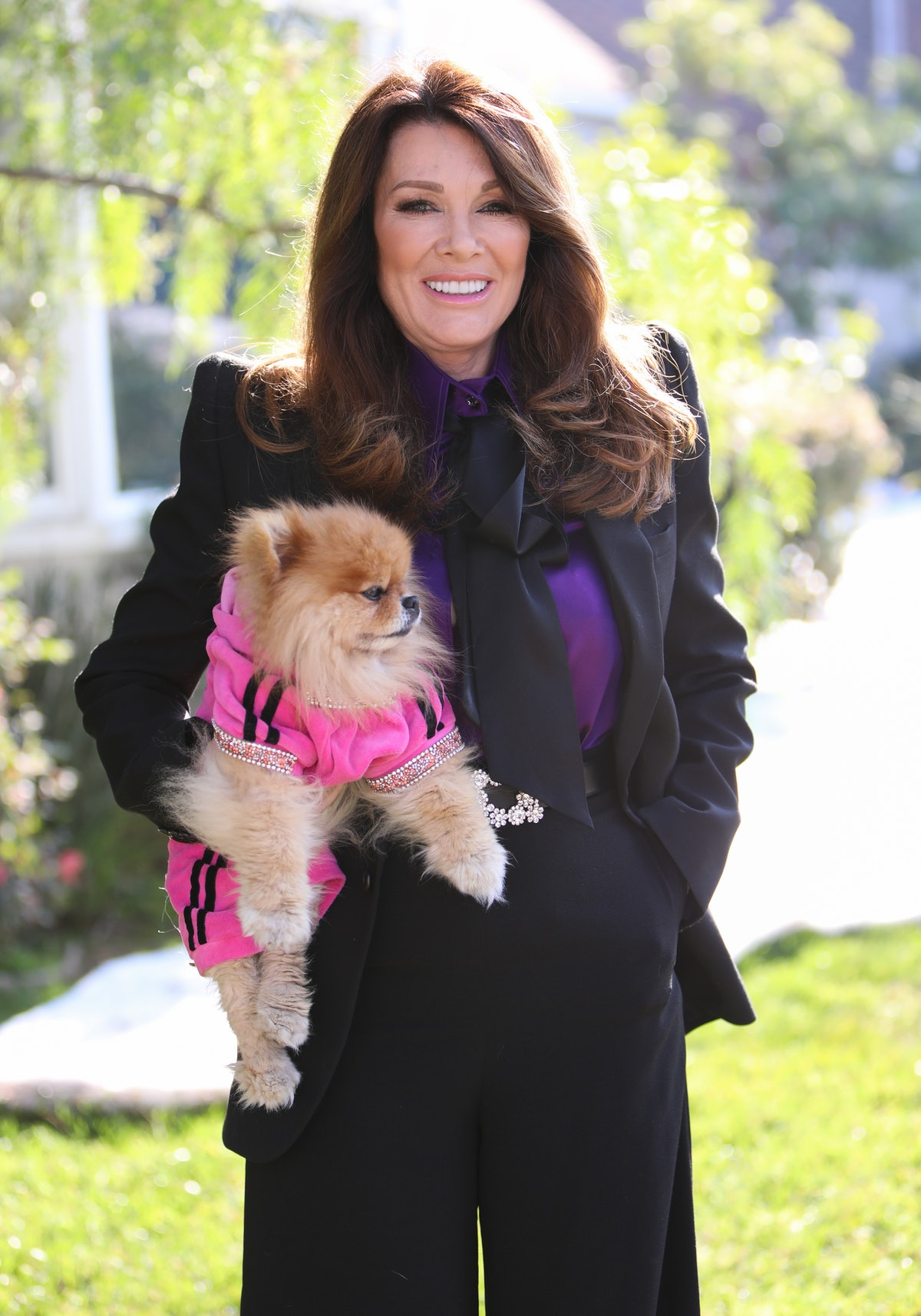 """UNIVERSAL CITY, CALIFORNIA - JANUARY 14: Reality TV Personality Lisa Vanderpump visits Hallmark Channel's """"Home & Family"""" at Universal Studios Hollywood on January 14, 2020 in Universal City, California. (Photo by Paul Archuleta/Getty Images)"""