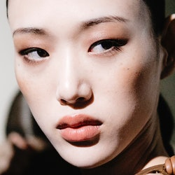 MILAN, ITALY - SEPTEMBER 20:  Model Sora Choi is seen backstage ahead of the Max Mara show during Mi...