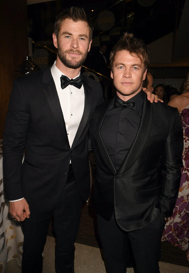 BEVERLY HILLS, CA - JANUARY 08:  Actors Chris Hemsworth and Luke Hemsworth attend HBO's Official Golden Globe Awards After Party at Circa 55 Restaurant on January 8, 2017 in Beverly Hills, California.  (Photo by Jeff Kravitz/FilmMagic for HBO)