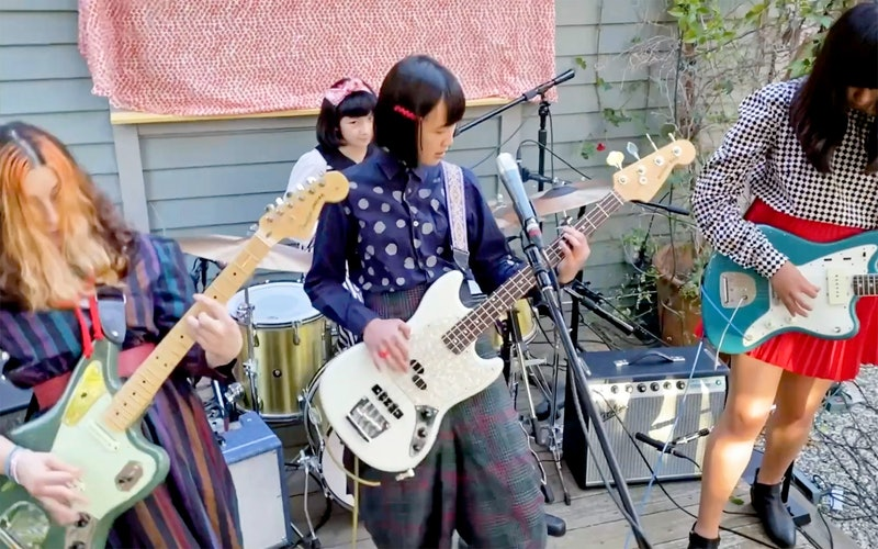 UNSPECIFIED - APRIL 29: In this screengrab, The Linda Lindas perform during LA Family Housing's Home Together virtual event, presented by RBC|City National Bank and The Smidt Foundation, on April 29, 2021. (Photo by LA Family Housing Home Together 2021/via Getty Images )