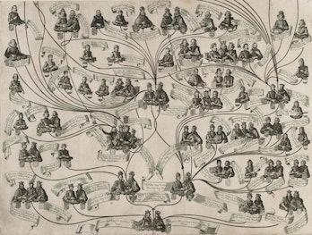 Aegidius Sadeler II, Family Tree of the House of Habsburg, Aegidius Sadeler II (Netherlandish, Antwe...