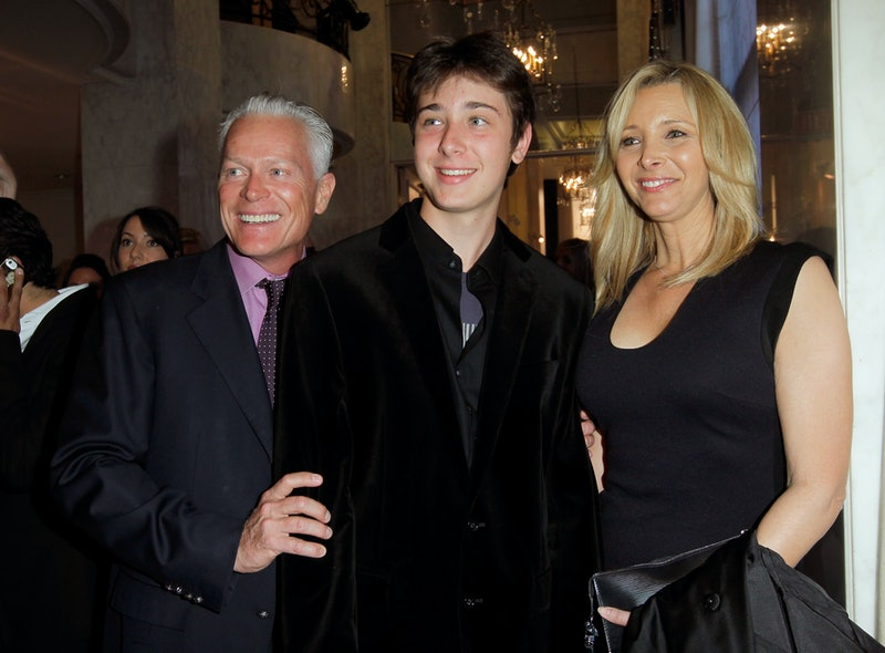 Michel Stern, Julian Murray Stern, and Lisa Kudrow in 2013.
