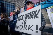 FOLEY SQUARE, NEW YORK, UNITED STATES - 2019/02/25: LGBTQ+, immigrant rights, harm reduction and cri...