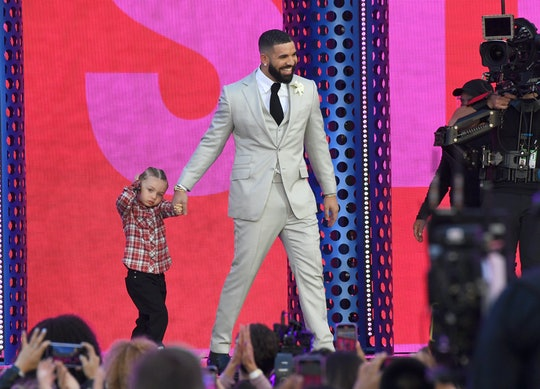 LOS ANGELES, CALIFORNIA - MAY 23: (L-R) Adonis Graham and Drake, winner of the Artist of the Decade ...