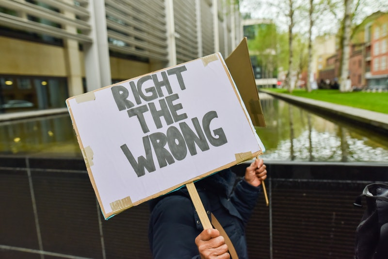 LONDON, UNITED KINGDOM - APRIL 28:                          People march in protest against the treatment of the Windrush generation from Parliament Square to the Home Office.PHOTOGRAPH BY Matthew Chattle / Barcroft Images (Photo credit should read Matthew Chattle / Barcroft Media via Getty Images / Barcroft Media via Getty Images)