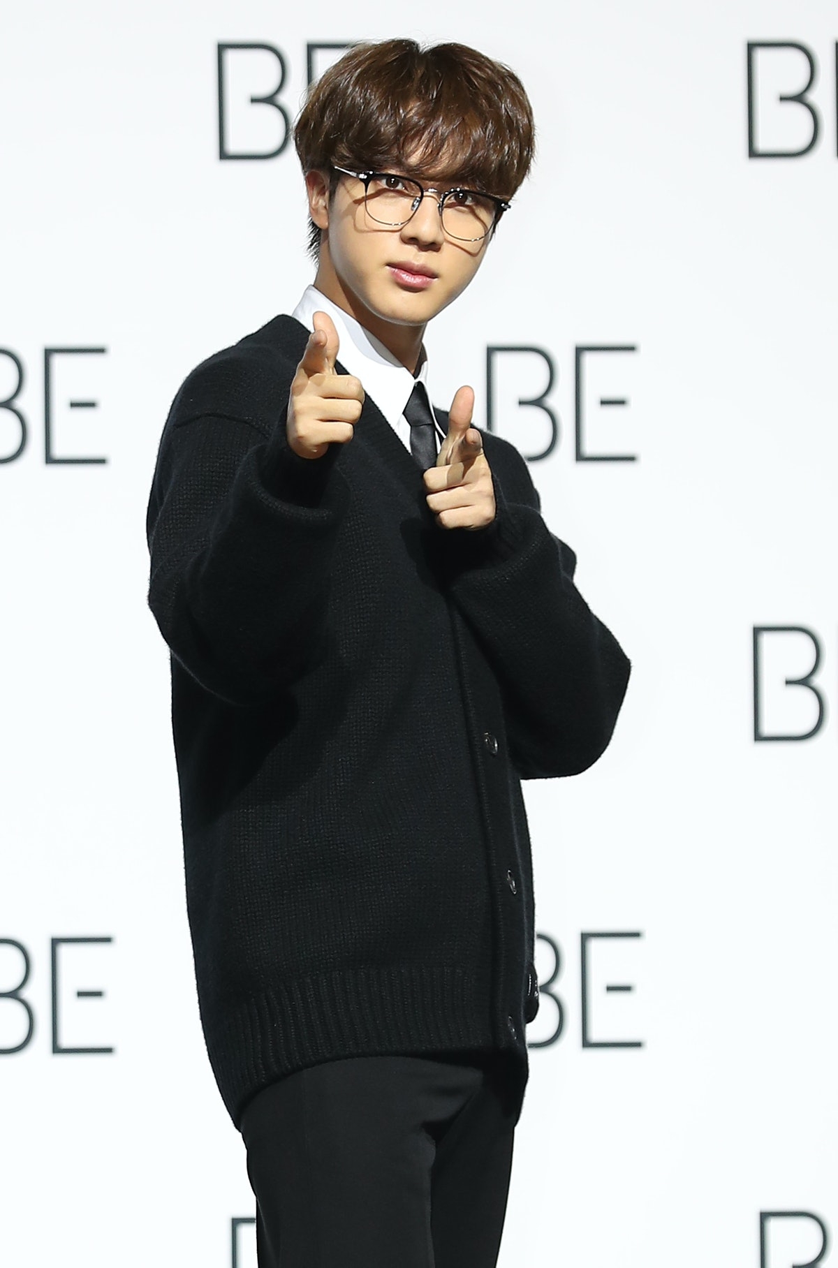 SEOUL, SOUTH KOREA - NOVEMBER 20: Jin of BTS during BTS's new album 'BE (Deluxe Edition)' release press conference at Dongdaemun Design Plaza on November 20, 2020 in Seoul, South Korea. (Photo by JTBC PLUS/Imazins via Getty Images)