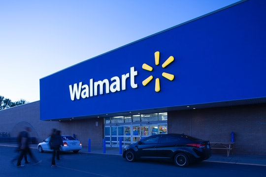 Longueuil,Quebec, Сanada- May 28, 2014: View at Longueuil storefront from its parking lot.Walmart is an American public multinationnal corporation stores and warehouse stores.