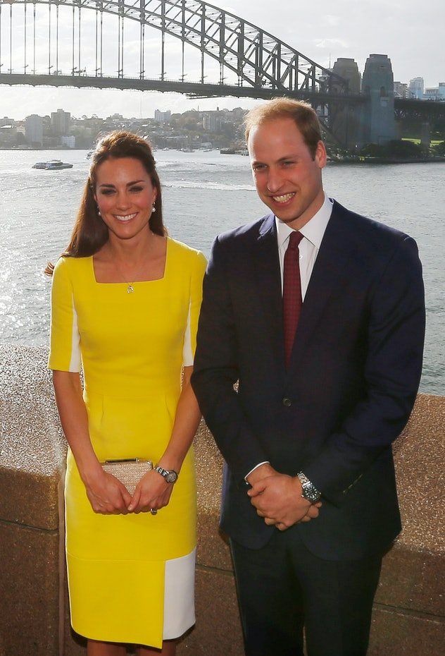 Prince William said his wife looked like a banana.