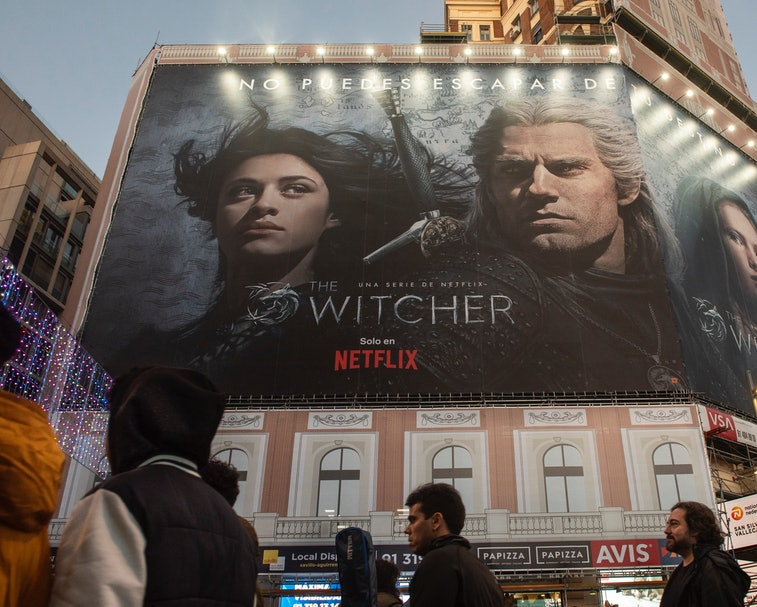 SPAIN - 2020/01/09: A large American global on-demand Internet streaming media provider Netflix and ...