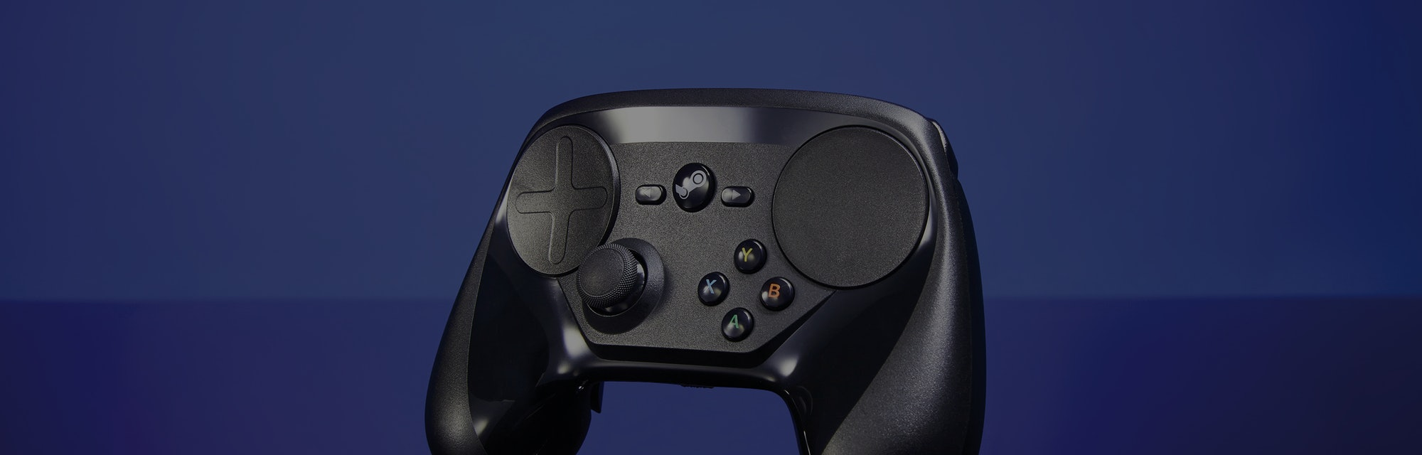 A Steam video game controller, taken on August 25, 2016. (Photo by Gavin Roberts/PC Gamer Magazine/F...