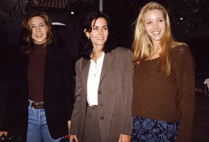 Jennifer Aniston, Courteney Cox, and Lisa Kudrow in 1995.