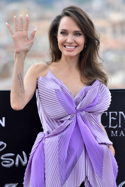 Actress and celebrity Gemini Angelina Jolie attends screening of Maleficent Mistress of Evil.