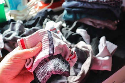 You can still recycle clothes & shoes that aren't in good condition. Get started by looking for textile recycling near me or clothes recycling bins near me.