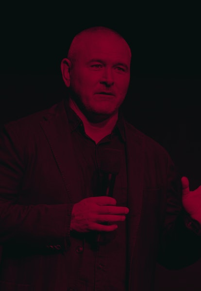 Director Tim Miller speaks on stage during the CinemaCon Paramount Pictures Exclusive Presentation at the Colosseum Caesars Palace on April 4, 2019, in Las Vegas, Nevada. (Photo by VALERIE MACON / AFP)        (Photo credit should read VALERIE MACON/AFP via Getty Images)