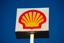 British-Dutch oil and gas company Royal Dutch Shell PLC sign , commonly known as Shell is seen on Oc...