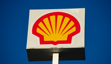 British-Dutch oil and gas company Royal Dutch Shell PLC sign , commonly known as Shell is seen on October 6, 2020 in Warsaw, Poland. (Photo by Aleksander Kalka/NurPhoto via Getty Images)
