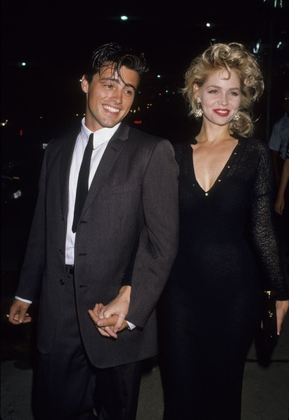 Actress Teri Copley and actor Matt LeBlanc attending 'Grand Opening of Manhattan West Restaurant' on August 4, 1989 in Los Angeles, California. (Photo by Ron Galella, Ltd./Ron Galella Collection via Getty Images)