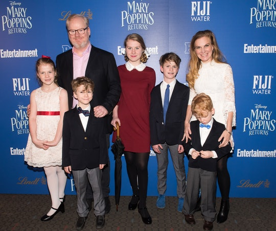 """NEW YORK, NY - DECEMBER 17:  (L-R) Katie Louise Gaffigan, Jim Gaffigan, Michael Gaffigan, Marre Gaffigan, Jack Gaffigan, Jeannie Gaffigan, and Patrick Gaffigan attend The Cinema Society's screening of """"Mary Poppins Returns"""" co-hosted by Lindt Chocolate at SVA Theatre on December 17, 2018 in New York City.  (Photo by Mike Pont/Getty Images for Lindt Chocolate)"""