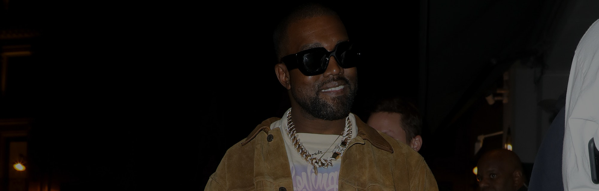 PARIS, FRANCE - MARCH 02: Kanye West is seen leaving a restaurant after his show  on March 02, 2020 ...