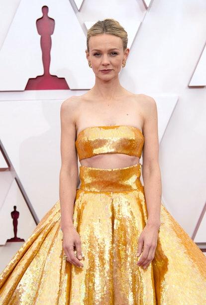 Celebrity Gemini Carey Mulligan attends the 93rd Annual Academy Awards.