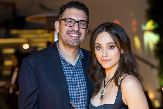 """Director Sam Esmail and Actress Emmy Rossum arrive for the Premiere Of Showtime's """"SMILF"""" After Party at Ysabel on October 9, 2017 in Los Angeles, California.  (Photo by Greg Doherty/Getty Images)"""
