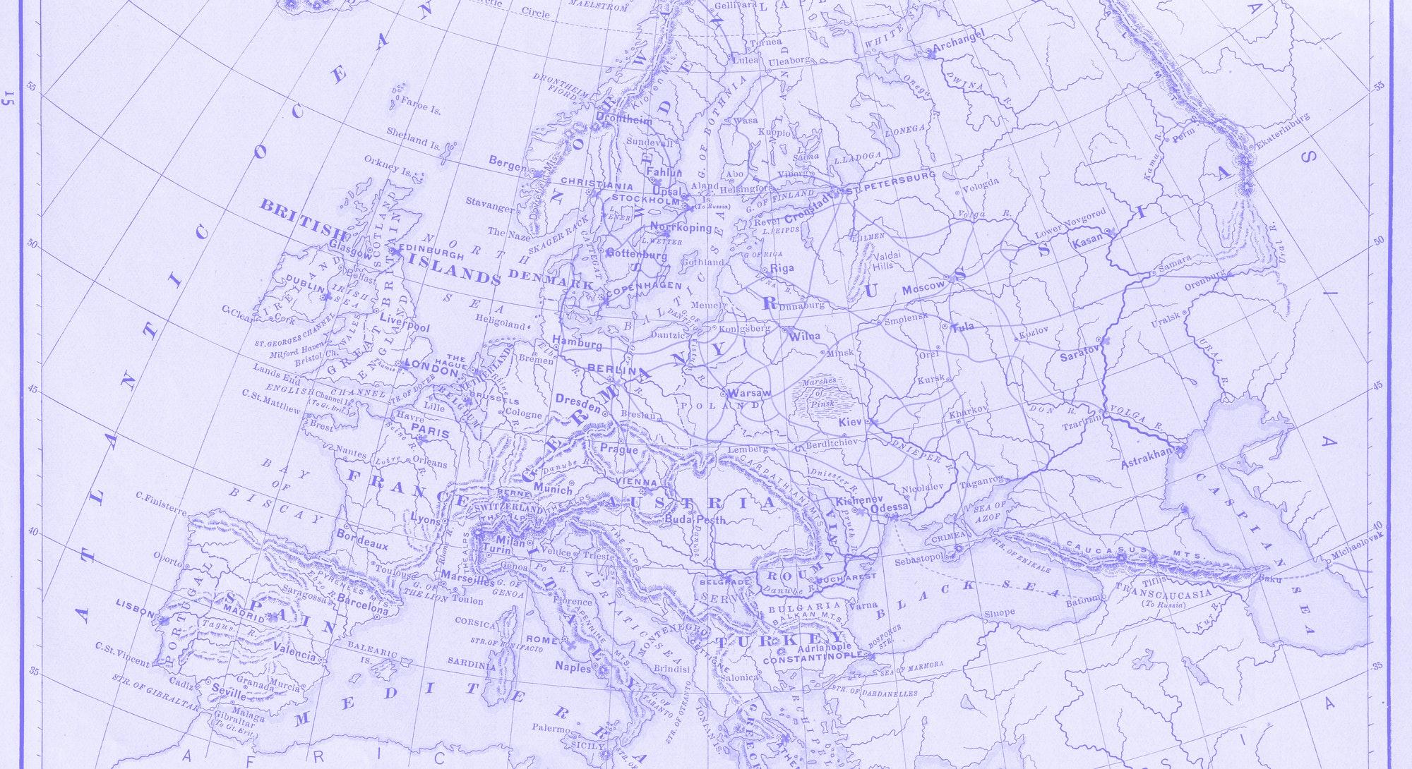Antique map: Europe