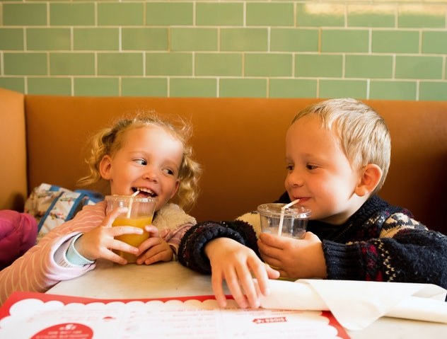 Getting your kid a fun drink is one restaurant tip from parents for picky eaters.
