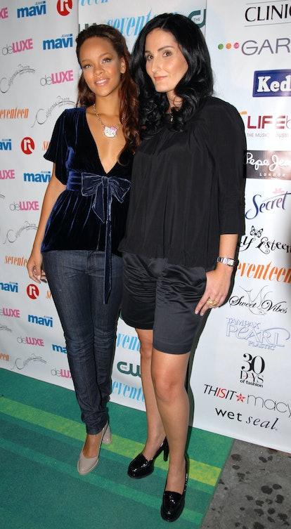 "Rihanna and Atoosa Rubenstein during Seventeen Magazine Celebrates Hearst Magazines ""30 Days of Fashion"" at Show Nightclub in New York City, New York, United States. (Photo by Shane Gritzinger/FilmMagic)"