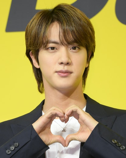 SEOUL, SOUTH KOREA - MAY 21: Jin of BTS attends a press conference for BTS's new digital single 'But...